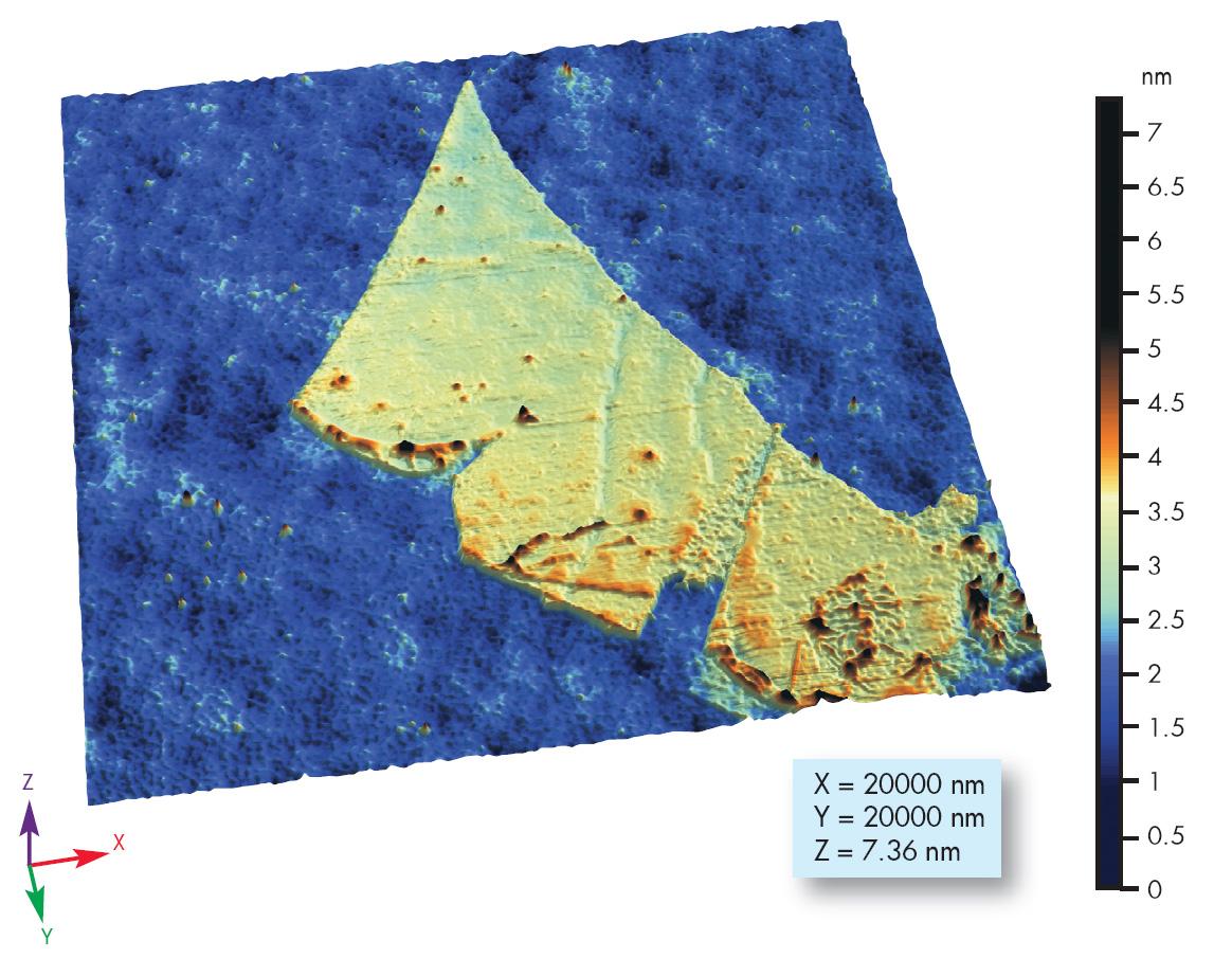 Graphène vu au microscope à force atomique