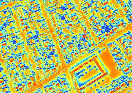 Cadastre solaire d'un territoire en 256 couleurs