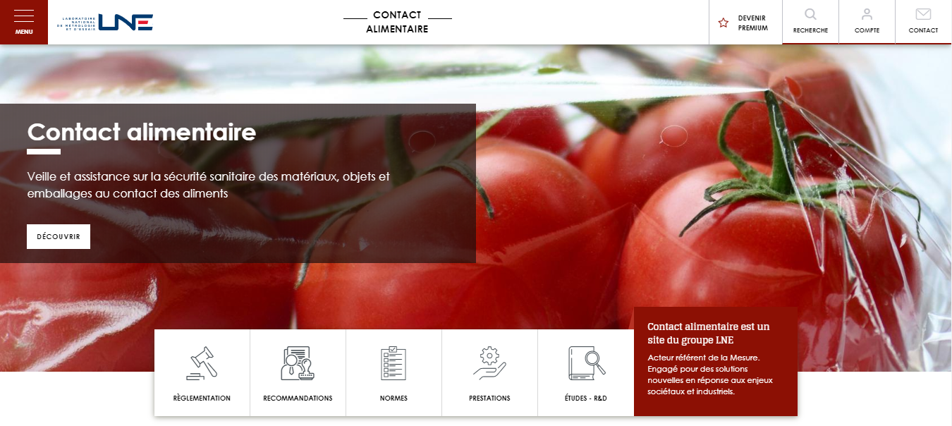 Site contact alimentaire