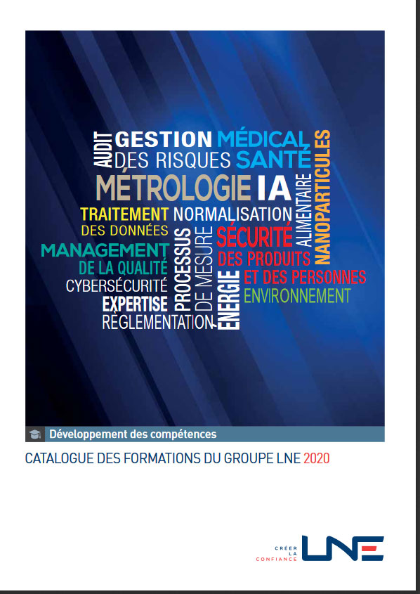 Couverture du catalogue des formations 2020 du groupe LNE